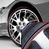 Wheel Bands Red in Black Pinstripe Trim for Maserati GranTurismo
