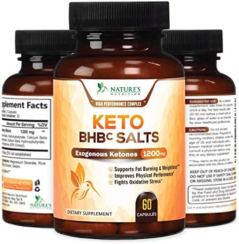 Keto BHB Pills Premium Exogenous Ketones Salts 1200mg - Utilize Your Body's Natural Energy with Ketosis - Made in USA - Ketone Weight Support Supplement with Hydroxybutyrate for Men and - 60 Capsules 4