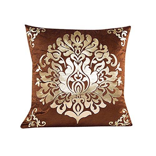 Luca Sofa Waist Throw Cushion Cover (Brown)