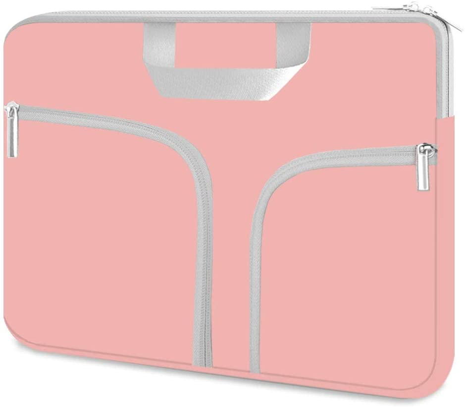 "HESTECH Chromebook Case 11.6,Neoprene Laptop Sleeve Bag Computer Cover for 11""-12.5 inch Macbook Air Acer r11 HP Stream Surface Pro Asus Lenovo c330 Dell Samsung Plus 3 Toshiba Google,Pink Rose Quartz"