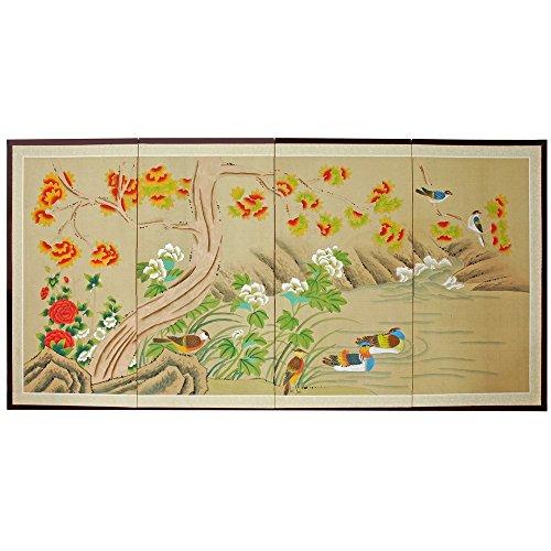 Asian Folding Screen (Oriental Furniture 36