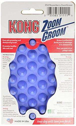KONG-ZoomGroom-Dog-Grooming-Brush-Boysenberry