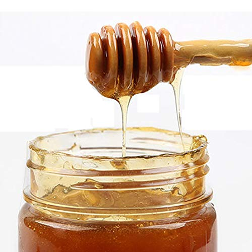 MARIAHANAN 1Pc Practical Long Handle Wood Honey Spoon Mixing Stick Dipper For Honey Jar Supplies Kitchen Tools