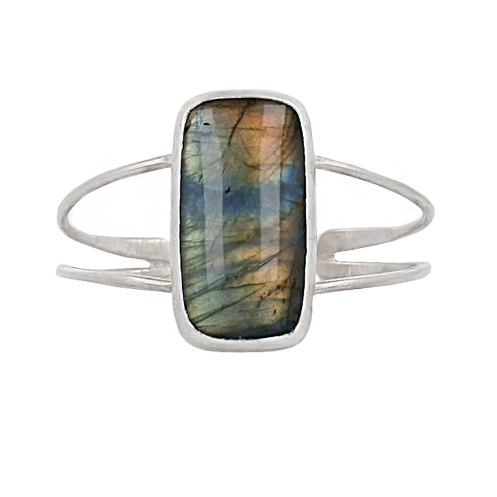 Chan Luu Labradorite Pendant Sterling Silver Cuff Bracelet