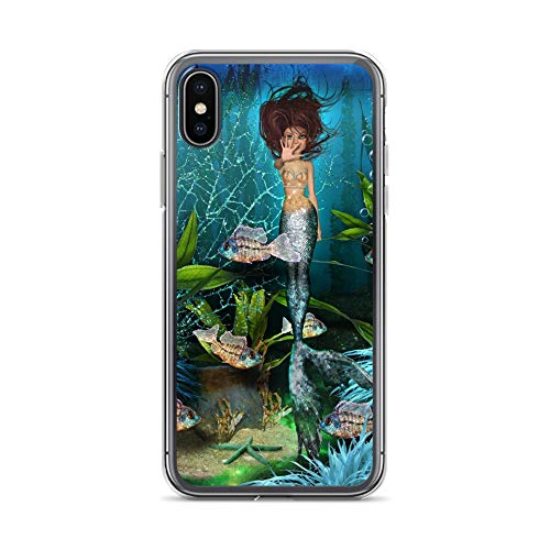 iPhone X/XS Case Anti-Scratch Phantasy Imagination Transparent Cases Cover Mermaids Haven Fantasy Dream Crystal Clear (Crystal Clock Simon)