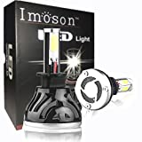 IMOSON H3 Led Headlight Bulbs fog light, For auto Cars Super Bright, H3 Led Bulb Conversion Kit Headlamps, H3-30W 6,000lm 6000k, Cool White, COB LED chip