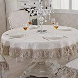 European style,living room, general,luxury,simple modern,rectangle,solid color,thicken, table cloth,chair covers cushions set,round table cloth -B diameter180cm(71inch)