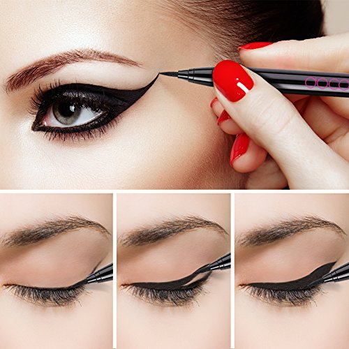 (Docolor Waterproof Eyeliner Pen Super Slim Liquid Eyeliner Eye Liner Gel Black)