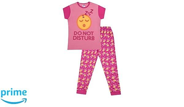 """Pijama de ThePyjamaFactory de pantalón largo, para niña, con emoticono y mensaje """"Do not disturb"""": Amazon.es: Ropa y accesorios"""