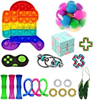 GBSELL 30Pcs Sensory Fidget Toy Set, Fidget Pack Sensory Relieves Stress Anxiety for Kids Adults