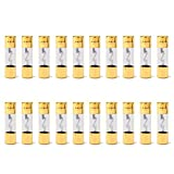 Areyourshop 20Pcs AGU Fuse Car Audio Power Safety Protection Glass Tube Gold Plated 20A