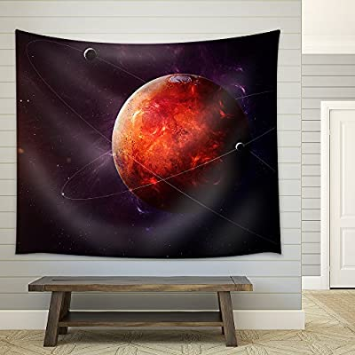 The Mars Shot from Space Showing All They Beauty Extremely Detailed Image Including Elements furnished by NASA Fabric Wall, Quality Creation, Incredible Design