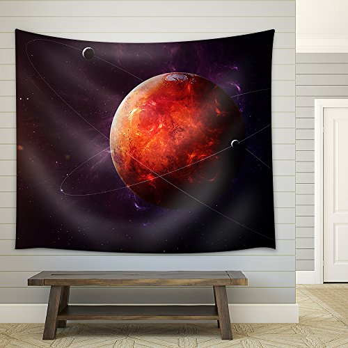The Mars shot from space showing all they beauty Extremely detailed image including elements furnished by NASA Fabric Wall Tapestry