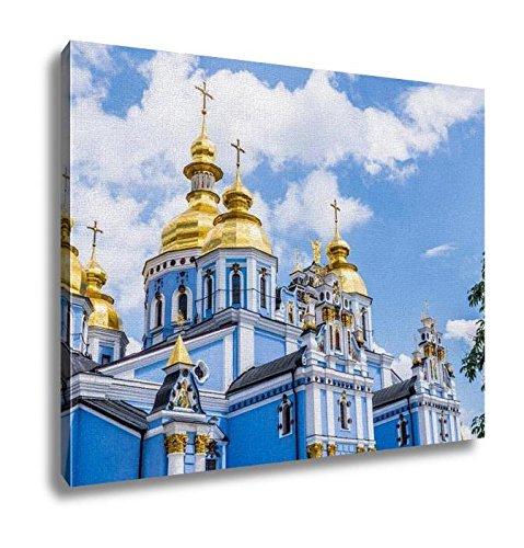 Ashley Canvas, Golden Domes Of Mikhailovsky Cathedral In Kiev, Home Decoration Office, Ready to Hang, 20x25, AG6513394 by Ashley Canvas