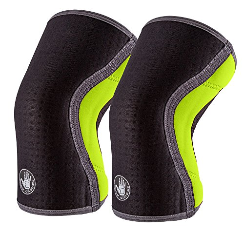 Body Glove Sport 5 Knee Sleeves - Moisture Wicking Breathable Anti-Slip Sport Knee Compression Sleeves - Arthritis ACL Injury Meniscus Tear Chronic Knee Pain Relief (Large, Green) Body Sport Patella Knee Support