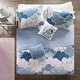 Urban Habitat Kids Cloud Bedding Blue, Geometric, Unicorn - 4 Piece Kids Girls 100% Cotton Quilt Sets Coverlet, Twin XL
