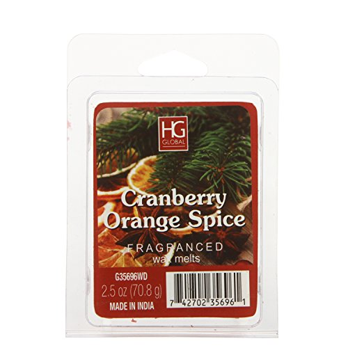 - Hosley Cranberry Orange Spice Wax Cube/Tart, 2.5 oz. Ideal Gift for Weddings, House Warming, Home Office, Everyday Uses. O7