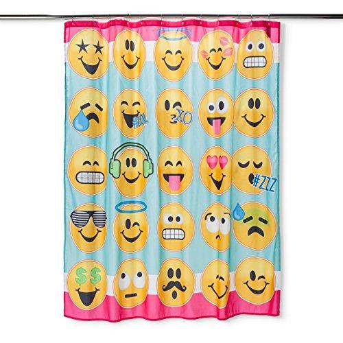 80OFF Emojination Emoji Fabric Shower Curtain 72 X