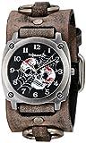 Nemesis Men's 931DFRBK Web of Skulls Series Analog Display Japanese Quartz Black Watch