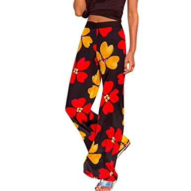 RISTHY Pantalón Sudadera Baggy Yoga Mujer Pantalón Palazzo ...
