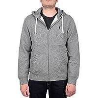 Polo Ralph Lauren Classic Full-Zip Fleece Hooded Sweatshirt (X-Large, Alaskan Heather)