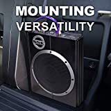 Sound Storm LOPRO10 Amplified Car Subwoofer - 1200 Watts Max Power, Low Profile, 10 Inch Subwoofer, Remote Subwoofer Control, Great For Vehicles That Need Bass But Have Limited Space