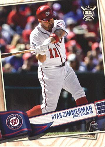 2019 Topps Big League #268 Ryan Zimmerman Washington Nationals Baseball Card (Zimmerman Baseball Ryan)