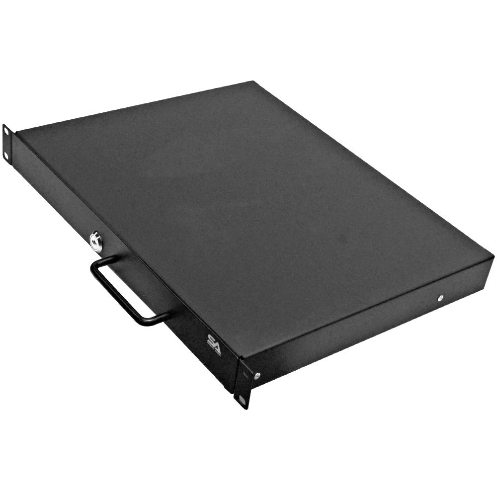 Seismic Audio - SA-RD1-1 Space PA/DJ Metal 19'' Rack Case Locking Drawer - 1U Server Cabinet Drawer with Keys