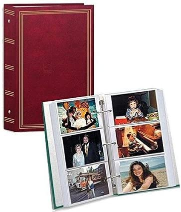 4X6 3-ring pocket BURGUNDY album for 504 photos