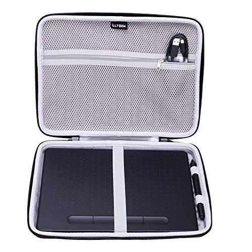 LTGEM EVA Hard Case Fit for Wacom Intuos Wireless Graphic Medium Tablet, Size 10.4x 7.8 (CTL6100)
