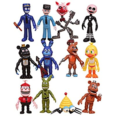 Max Fun Freddy's Action Figures Toys Cake Toppers Play Set Gifts: Toys & Games