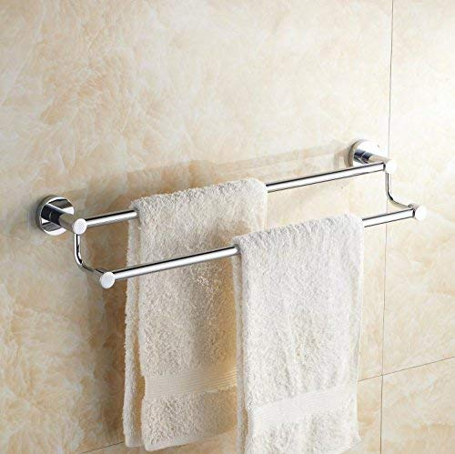 Double Towel Bars, Wall Mounted, from Punch, Stainless Steel Bathroom Shelf,71Cm (Color : 50cm)