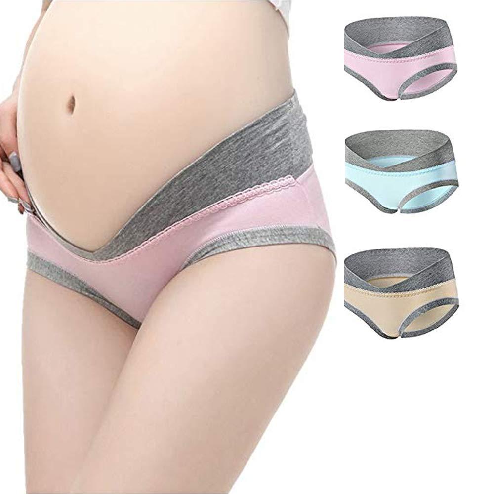3677d49a61908 BOANGE Pregnant Women's Underwear Pregnancy Postpartum Maternity Under Bump  Panties Multi-Pack Cotton ...