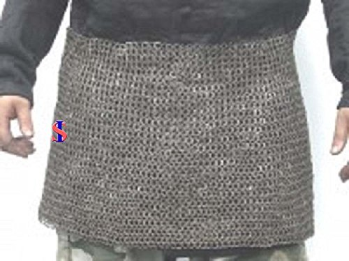 Chain Mail Skirt 10 mm Flat Riveted with Washer Medieval Armour SCA VIKING by Souvenir India