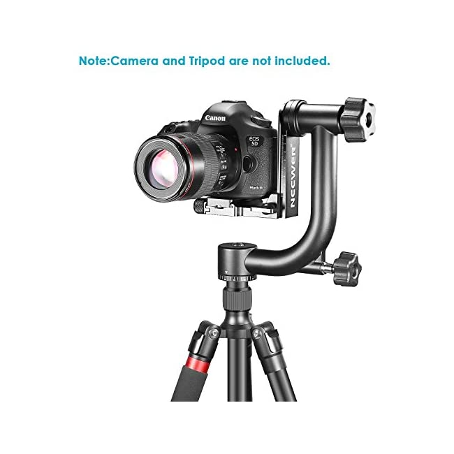 Neewer Professional Heavy Duty Metal 360 Degree Panoramic Gimbal Tripod Head with Arca-Swiss Standard 1/4'' Quick Release Plate and Bubble Level for Digital SLR Cameras up to 30lbs/13.6 kg