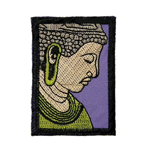 (Buddha Portrait Patch Spiritual Buddhism Beliefs Embroidered Iron On Applique)