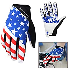 Classic American flag design, always fashionable. Seize your chances at least you can have a better experience if you have these gloves.  Classic American flag gloves are much more than just your typical mountain bike glove, they keep your ha...
