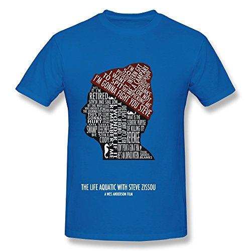 HUBA Men's T-shirt The Life Aquatic With Steve Zissou Bill Murray 5 RoyalBlue Size L