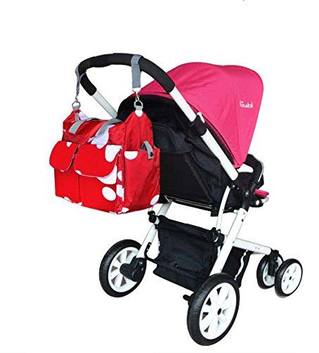 Global- 40 * 16 * 34cm versión coreana mujeres embarazadas Saliendo mochila, tela impermeable de gran capacidad paquete de la momia, de la manera extraña de viaje esencial multifunción mochila ( Color #1
