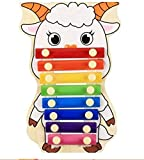 Polymer Musical Toys 8-Tone Chinese Zodiac Infant Child Octave Clappers Piano Percussion(Sheep)