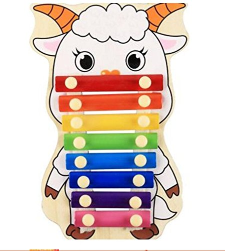 Polymer Musical Toys 8-Tone Chinese Zodiac Infant Child Octave Clappers Piano Percussion(Sheep) by Polymer
