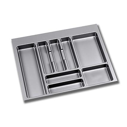 EMUCA - Cubertero Recortable para cajón, Bandeja para Cubiertos cajón Ancho módulo 70cm