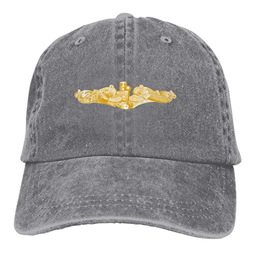 Gold Submarine Dolphin Adult Dad Hat Baseball Hat Vintage Washed Distressed Cap