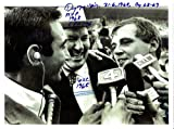 Denny Mclain with Dizzy Dean & Sandy Koufax Detroit Tigers Autographed Signed 8x10 Glossy Photo with Multiple Inscriptions - COA Proof - Mint Condition