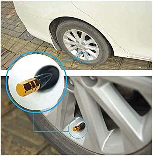 SANDIN Coperchio valvola esagonale in lega di alluminio per pneumatici auto tappo per parapolvere in alluminio colore magico 4pz