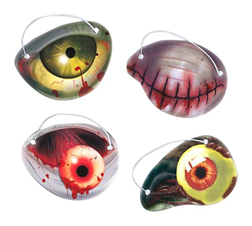 Amscan Creepy Halloween Zombie Eye Patch Party Favor (12 Pack), 2 1/2
