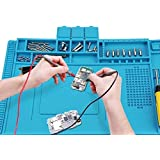 Voniry Soldering Mat 500℃ Heat Resistant Non-Slip and Non-toxic Odorless silicone repair mat for soldering electronics…