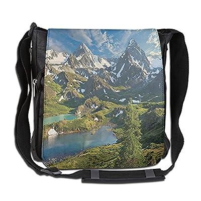 Lovebbag Lake Between Snowy Altai Range Of Mountains Siberia Meadow In Nature Crossbody Messenger Bag 50%OFF