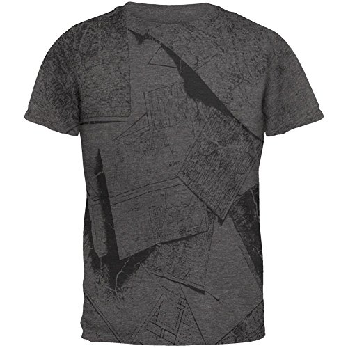 Intrepid Explorer (Intrepid Explorer Vintage Black and White Mens Soft T Shirt Charcoal Heather 2XL)