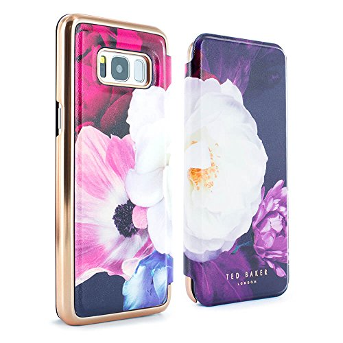 66d291559094a0 Official TED BAKER® Samsung Galaxy S8 - Luxury Folio Case   Cover in Flower  Design for Women with Built-In Interior Mirror for Galaxy S8 2017 - CANDACE  ...